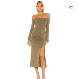 NWT Revolve Maccoy Midi Dress Olive Green (M)